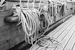 Rigging of a sailing vessel Stock Photography