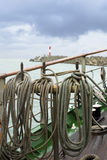 Rigging of sailing vessel. The rigging of a sailing ship Royalty Free Stock Images