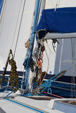 Rigging of a sailing yacht close-up Stock Photography