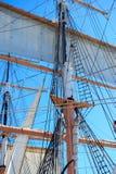 rigging seglar ships Arkivfoton