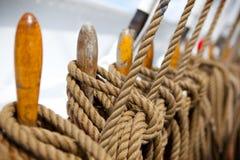 rigging ship Arkivfoton