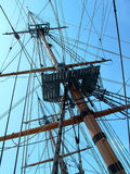 rigging ship Arkivfoton