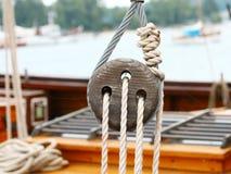 rigging ship Royaltyfri Bild