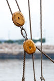 rigging ship Royaltyfri Foto