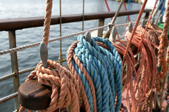 Rigging of a ship Stock Photo