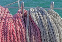 Rigging on a ship royalty free stock photography