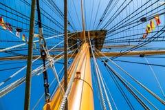 rigging ships Royaltyfri Fotografi