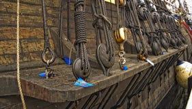 rigging ships Royaltyfria Bilder