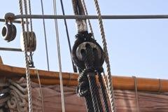 rigging shipswinch Arkivbild