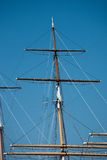 Rigging of a square rigger Royalty Free Stock Photography