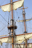 Rigging of a tall ship Royalty Free Stock Photography