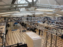 In the rigging and truss Stock Image