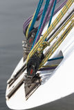 Rigging on a yacht. Shallow depth of field Stock Images