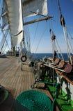 Riggning av ett seglingskepp Arkivbild