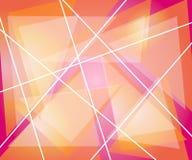 Linee rosa arancioni dei triangoli Fotografie Stock Libere da Diritti