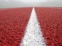 Righe bianche su colore rosso Fotografia Stock