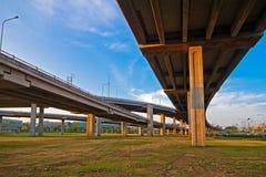 Righe d'intersezione di autostrada senza pedaggio di Bangkok. Fotografia Stock