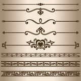 righe decorative Fotografia Stock Libera da Diritti