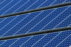Righe dei comitati solari Fotografia Stock