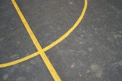 Righe del campo da pallacanestro Fotografie Stock Libere da Diritti