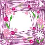 Righe del fiore Immagine Stock