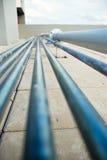 Righe del tubo con le mattonelle Immagini Stock Libere da Diritti