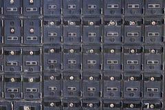 Righe della cassetta postale locked Fotografia Stock Libera da Diritti