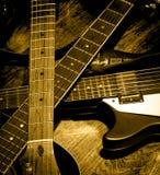 Righe della chitarra Fotografie Stock