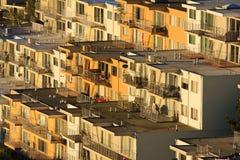 Righe delle case sulla collina Fotografia Stock Libera da Diritti