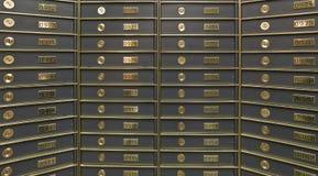 Righe delle caselle di deposito sicuro lussuose Immagini Stock Libere da Diritti
