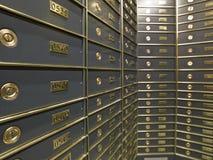 Righe delle caselle di deposito sicuro lussuose Immagine Stock