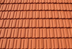 Righe delle mattonelle di tetto Fotografia Stock Libera da Diritti