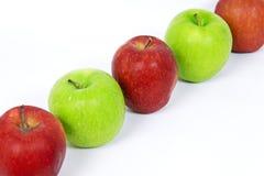 Righe delle mele Immagini Stock