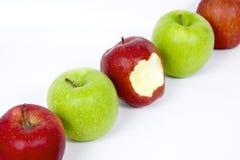 Righe delle mele Immagini Stock Libere da Diritti