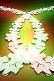 Righe delle parti di puzzle del puzzle Fotografie Stock Libere da Diritti