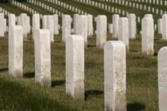 Righe delle pietre tombali immagini stock