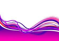 Righe dentellare viola astratte. Fotografie Stock