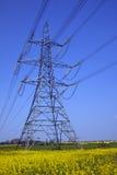 Righe di distribuzione di energia - Inghilterra Immagine Stock