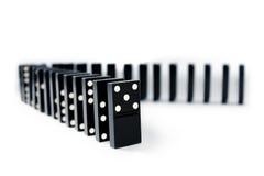 Righe di domino immagine stock libera da diritti