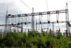 Righe di elettricità Fotografie Stock