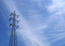 Righe di elettricità Fotografia Stock Libera da Diritti