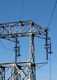 Righe di energia elettrica Fotografia Stock