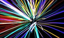Righe di movimento dello zoom Fotografia Stock