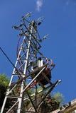 Righe di trasmissione di elettricità Fotografia Stock Libera da Diritti