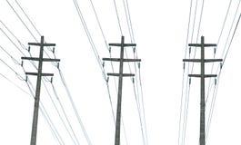 Righe di trasporto di energia parallele Immagini Stock Libere da Diritti