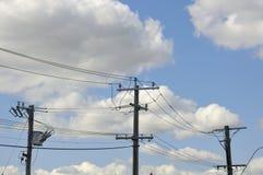 Righe elettriche di potenza Immagini Stock Libere da Diritti