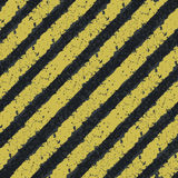 Righe gialle di rischio Fotografia Stock Libera da Diritti