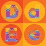 Righe Groovy quadrati di ALFABETI royalty illustrazione gratis