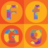 Righe Groovy quadrati di ALFABETI illustrazione di stock