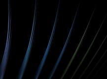 Righe multicolori di frattalo sopra il nero Fotografia Stock Libera da Diritti